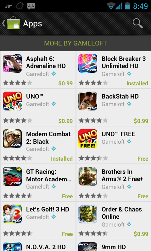 99 Cent Gameloft Games Make for a Truly Happy New Year