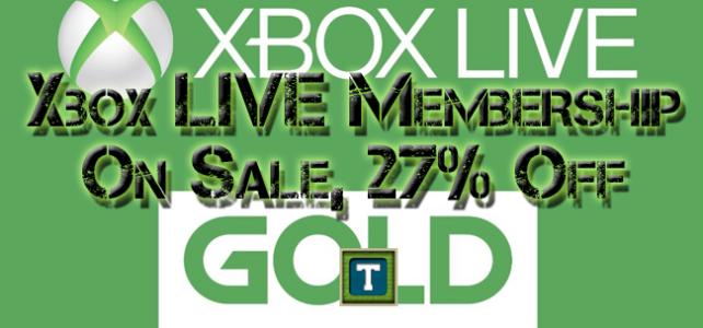 Xbox LIVE Gold Membership On Sale